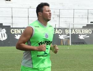 Goleiro Juninho Central (Foto: André Vinícius / GloboEsporte.com)