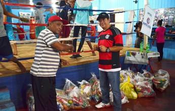 No AP, projeto social de boxe recebe doação de 500 quilos de alimentos