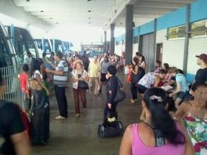 Rodoviária de Cabo Frio vai receber 216 ônibus, sendo 110 extras. (Foto: Renata Cristiane)