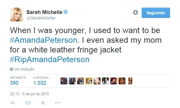 Sarah Michelle (Foto: Reprodução)