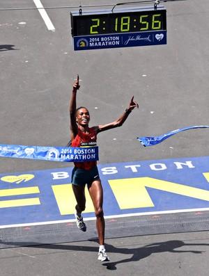 Rita Jeptoo maratona de Boston (Foto: Agência AP )