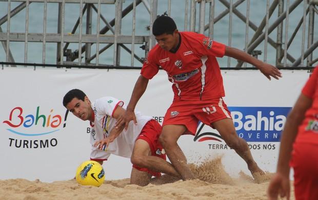 Datinha seleção do Maranhão no Campeonato Brasileiro de seleções de futebol de areia em Salvador (Foto: Anne Daisy/CBBS)