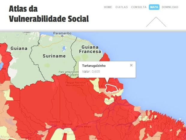 Tartarugalzinho foi considerado município mais vulnerável socialmente em 2010 (Foto: Ipea/Reprodução)