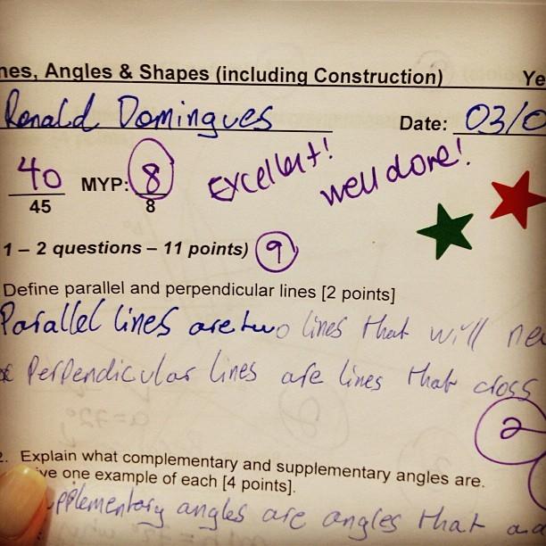 Milene Domingues posta foto da prova de inglês do filho, Ronald (Foto: Instagram)