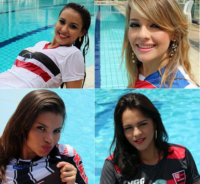 Candidatas à musa do Piauiense (Foto: Náyra Macêdo e Adelmo Paixão)