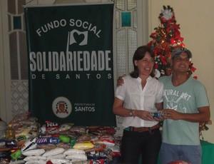 Robert e presidente do FSS, alimentos, em Santos (Foto: Tática Assessoria / Divulgação)