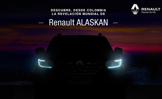 Teaser do alnçamento da noova picapea Renault Alaskan (Foto: Divulgação)