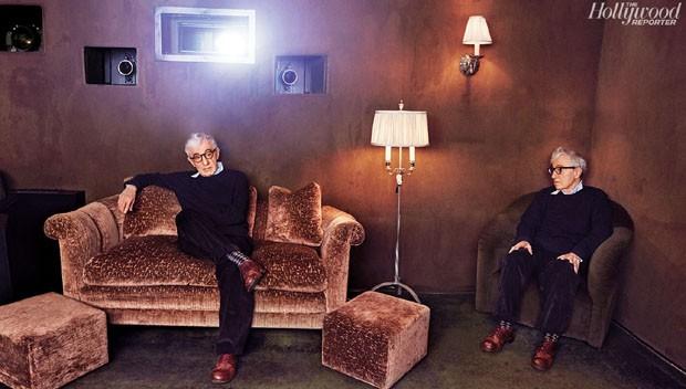 Woody Allen em ensaio para a 'Hollywood Reporter' (Foto: Reprodução)