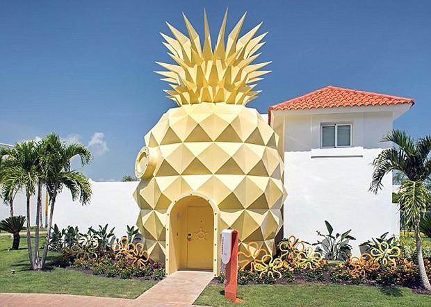 """Vila temática """"Bob Esponja Calça Quadrada"""" no Nick Resort Punta Cana  (Foto: Reprodução)"""