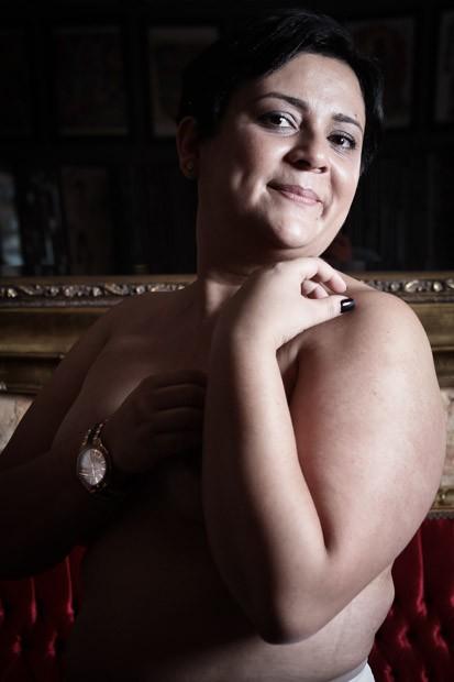 Viviane descobriu o câncer de mama tentando engravidar (Foto: Caio Kenji/G1)