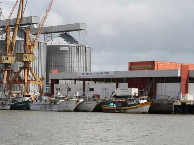Terminal Pesqueiro Público de Cabedelo está em reforma (Foto: Francisco França/Jornal da Paraíba)