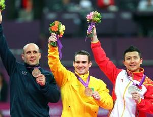 Arthur Zanetti pódio ouro na prova de argola ginástica (Foto: Getty Images)