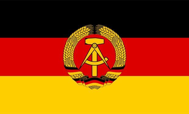 Bandeira da Alemanha Oriental (Foto: Jwnabd/Wikimedia Commons)