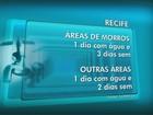 Racionamento de água no Grande Recife atinge 600 mil pessoas