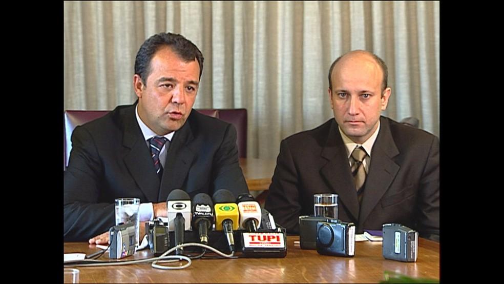 Sérgio Cabral e Sérgio Côrtes: ambos estão presos em Bangu (Foto: Reprodução/TV Globo)