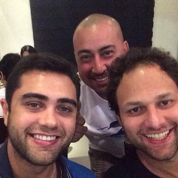 Marco Antônio com Thiago, filho do cantor Leandro (Foto: Reprodução/Instagram)