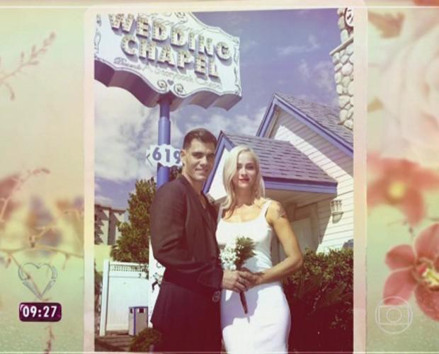 Juliano Cazarré se casou em Las Vegas (Foto: Mais Você/TV Globo)