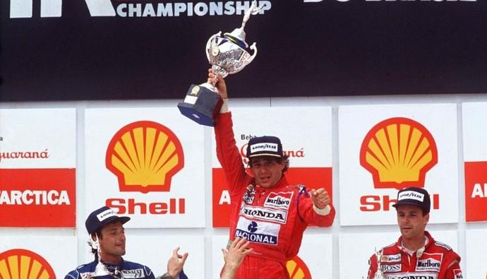 Ayrton Senna GP do Brasil 1991 (Foto: Getty Images)