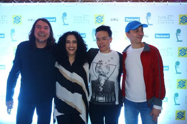 Lenine, Gal Costa, Maria Gadú e Zeca Baleiro (Foto: Marcello Sá Barretto / Agnews)