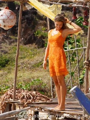 Grazi planeja próxima gravidez após Flor do Caribe (Foto: Flor do Caribe / TV Globo)