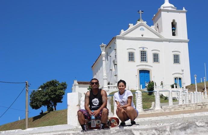 Ugry e Leticia: Skate aproxima pai e filha (Foto: Leticia Ramos)
