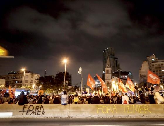 Protesto no Largo da Batata,em São Paulo,na semana passada (Foto:  Ricardo Nogueira/EPOCA)