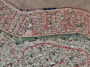 Os pontos vermelhos representam um ponto de dengue no mapa da Embrapa em Campinas (Foto: Reprodução/ EPTV)