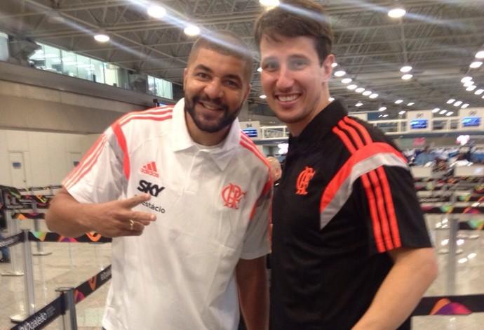 Flamengo basquete embarque estados unidos Olivinha (Foto: Divulgação / Flamengo)