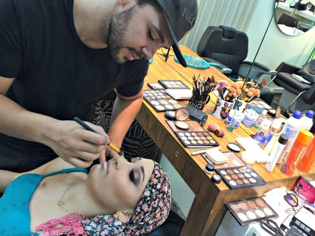 Maquiagem, Isabela (Foto: Isabela Cavalcante/ G1 MS)