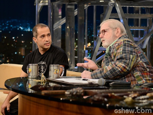 Peterson Menezes participa do Programa do Jô desta quarta-feira (Foto: TV Globo/Programa do Jô)