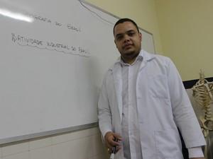 Professor de Geografia Márcio Jorge (Foto: Patrícia Andrade/G1)