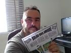 Corretor reúne R$ 2,5 mil em bolão da Mega da Virada em Suzano