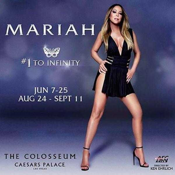 O polêmico material de divulgação utilizado pela cantora Mariah Careu (Foto: Instagram)