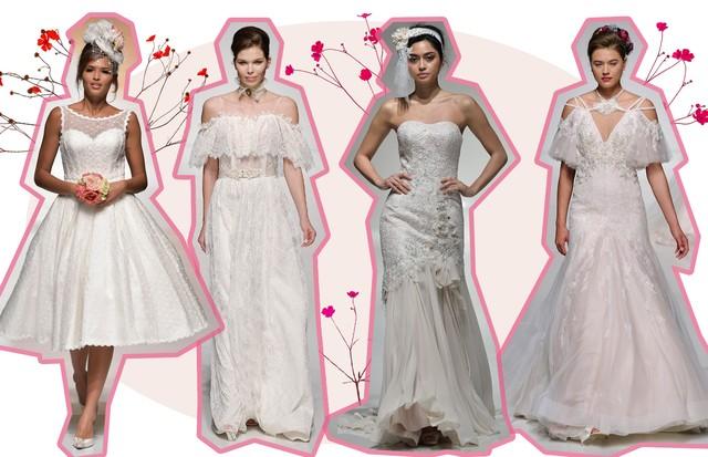 Vestidos de noiva para casamento no campo (Foto: Getty, ImaxTree e Reprodução)