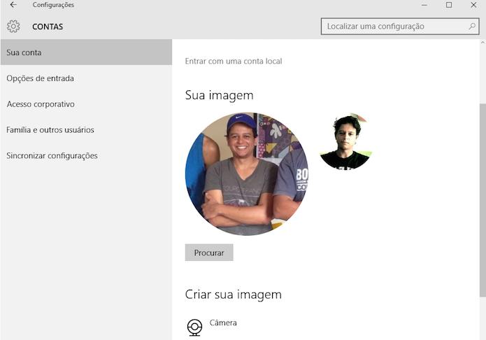 Nova foto foi adicionada a conta do Windows 10 (Foto: Reprodução/Marvin Costa)