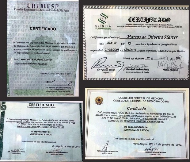 Diplomas de Marcos Harter, do BBB 17 (Foto: Reprodução/Instagram)