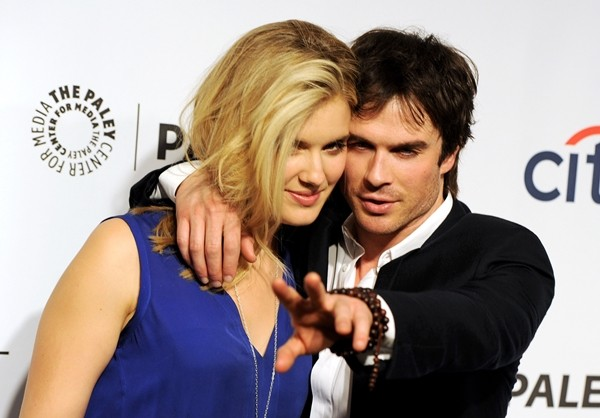 Ian Somerhalder e Maggie Grace (Foto: Getty Images)
