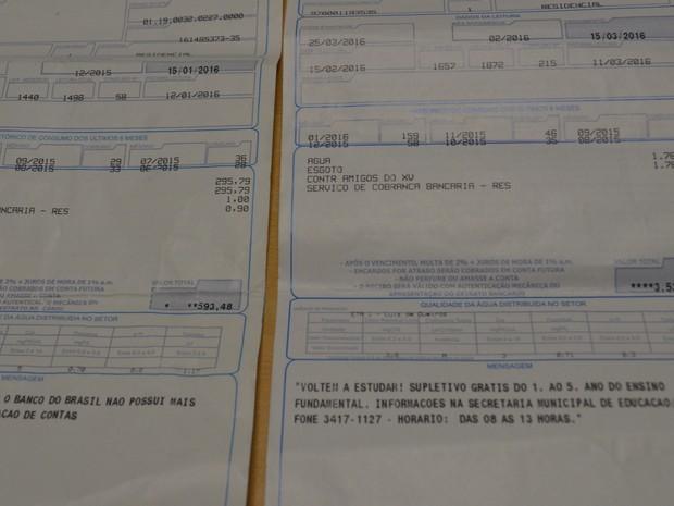 Conta de água moradora atingiu R$ 3 mil no mês de fevereiro em Piracicaba  (Foto: Claudia Assencio/G1)