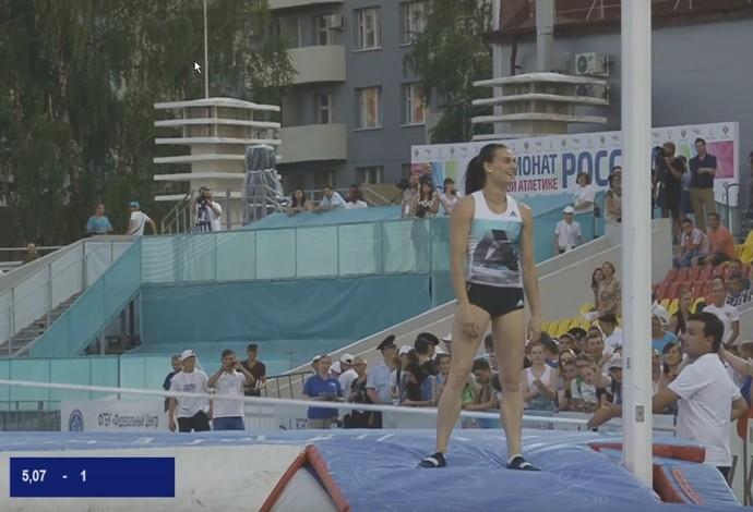 Yelena Isinbayeva Campeonato Rússia salto com vara (Foto: Reprodução)