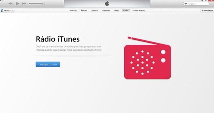 iTunes Radio também oferece seu menu em português (Foto: Reprodução/Thiago Barros)