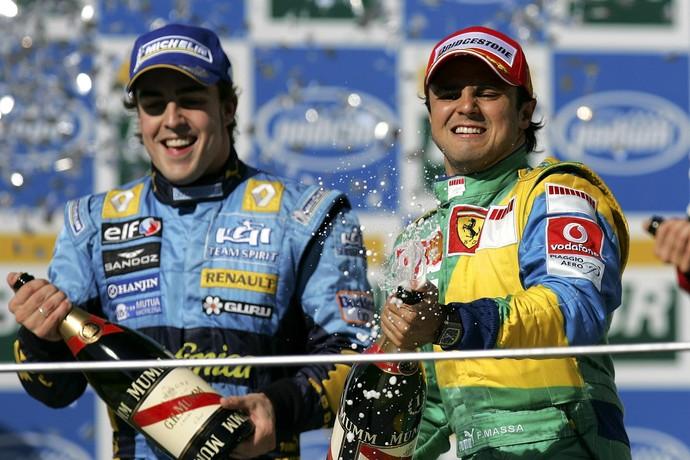 Felipe Massa venceu GP do Brasil que garantiu o bicampeonato de Fernando Alonso em 2006 (Foto: Getty Images)