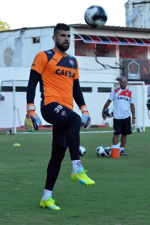 Vitória; treino; Barradão; Fernando Miguel (Foto: Francisco Galvão/EC Vitória/Divulgação)