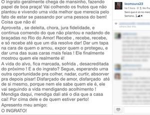 Leonardo Moura Flamengo (Foto: Reprodução/ Instagram)