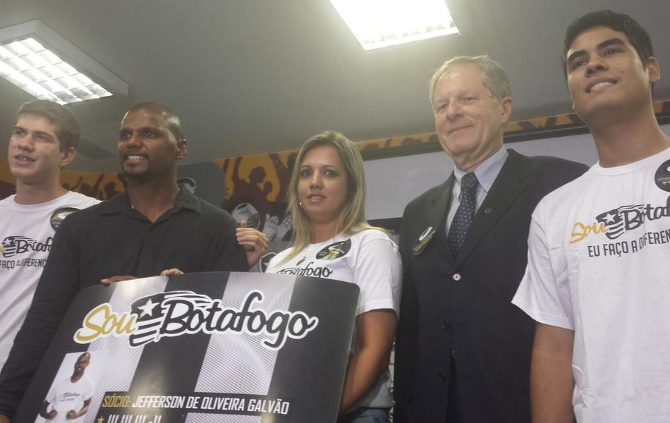 Jefferson e Presidente Carlos Socio-torcedor Botafogo