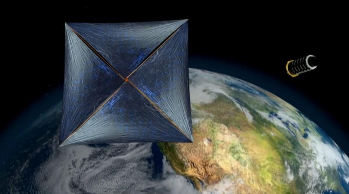 Concepção artística do projeto Breakthrough Starshot (Foto: Divulgação)