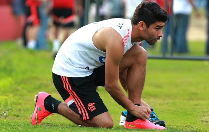 Eduardo da Silva Treino Flamengo (Foto: Gilvan de Souza / Flamengo)
