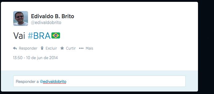 Usando hashflags no Twitter (Foto: Reprodução/Edivaldo Brito)