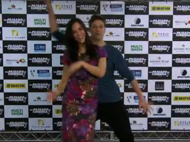 Fábio Porchat e Miá Mello dança no clipe-paródia de 'Ninguém mais', da Banda do Mar, em vídeo para divulgar 'Meu passado me condena 2' (Foto: Divulgação)