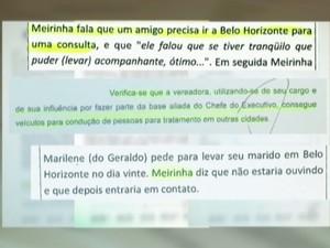 Vereadora Meirinha foi citada na investigação do MP (Foto: TV Integração/Reprodução)