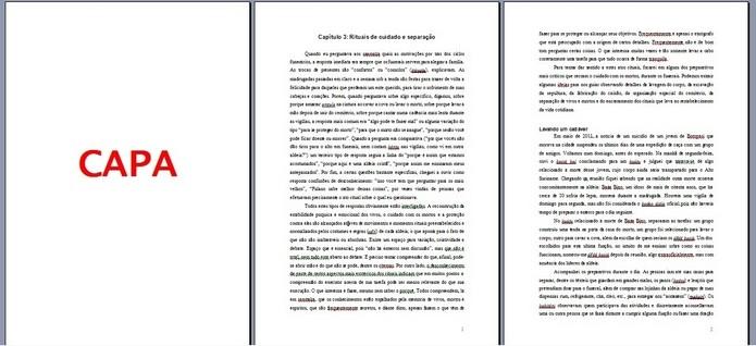 Páginas com numeração inserida no Microsoft Word (Foto: Reprodução/ Raquel Freire)